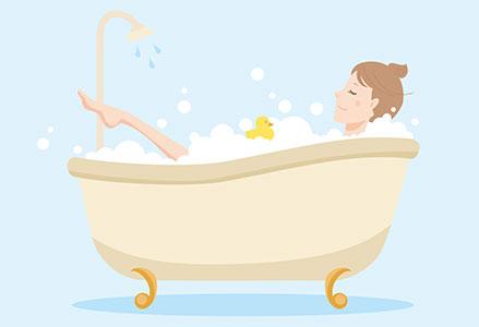 長時間の半身浴
