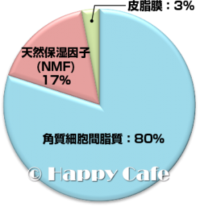 保湿機能のグラフ