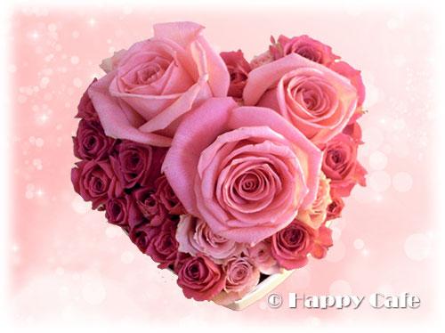 ハート型のバラ